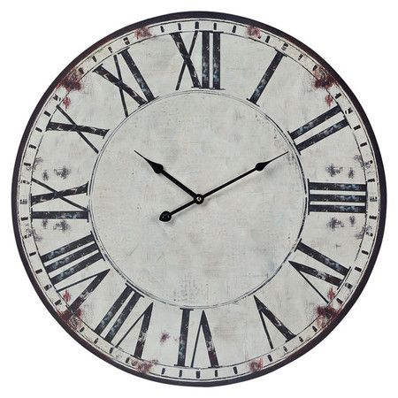 found it at wayfair roman numeral oversized wall clock in white