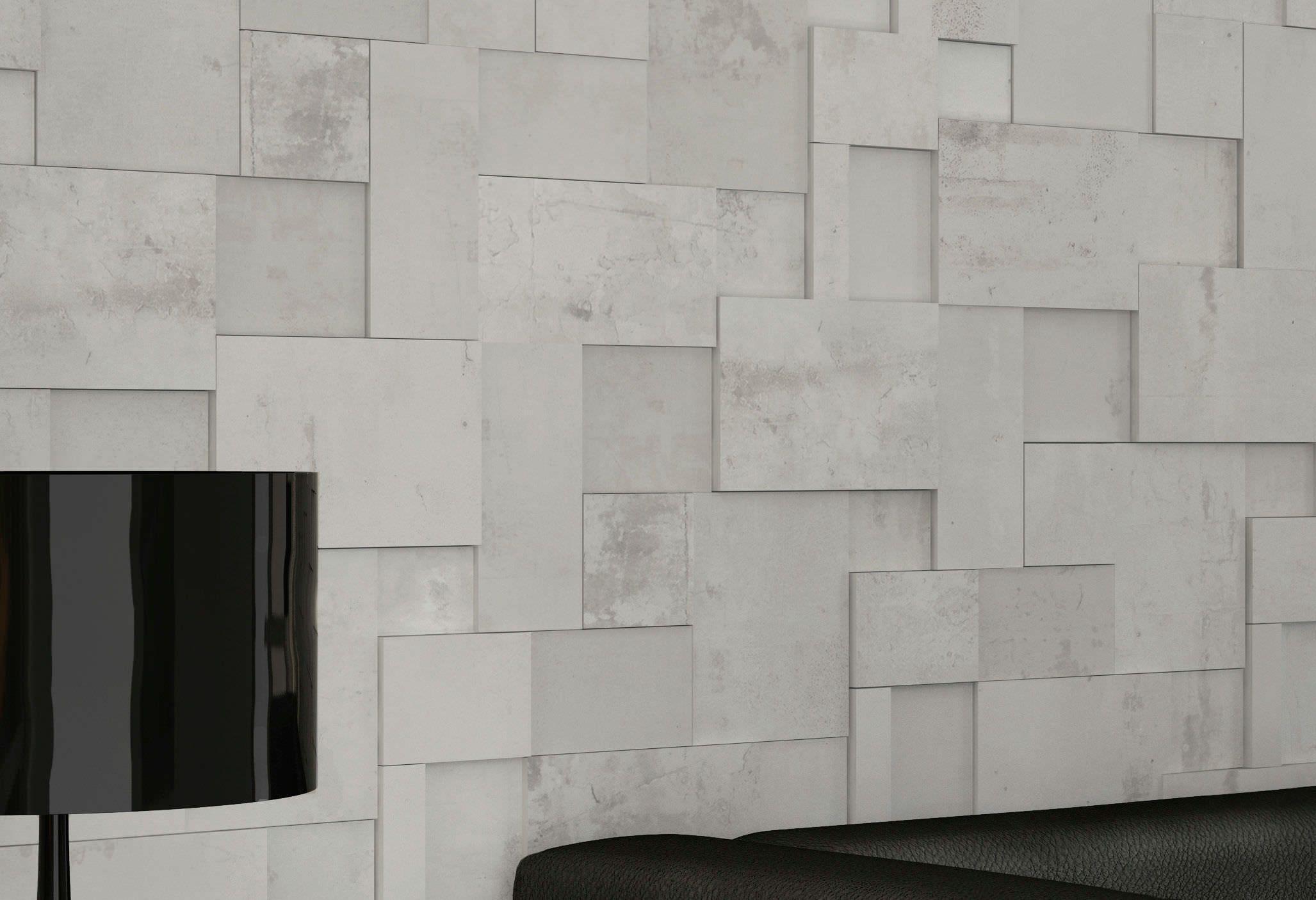 Wall Mounted Tile Porcelain Stoneware 3 D Indoor Regeneration White