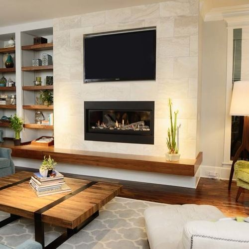 Houzz Fireplace Ideas: Raleigh Tv Above Fireplace Home Design Design