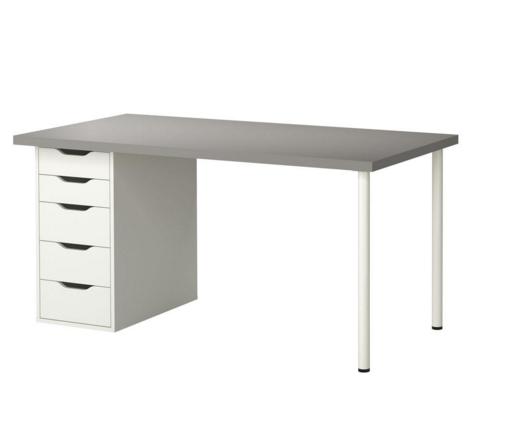 Weisser Schreibtisch Ikea Eleganten Stil Auf Dem Tisch Von Ikea Ist