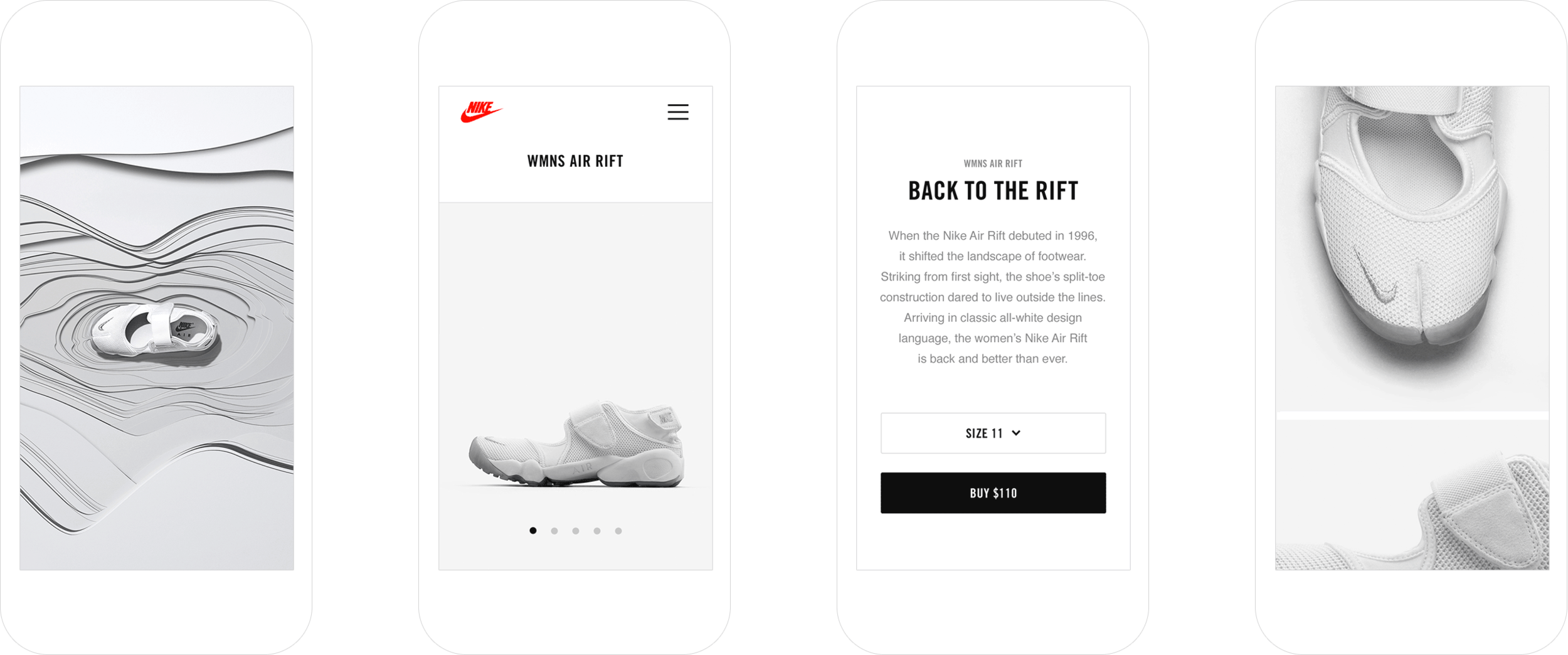 SNKRS Interface Showcase Digital creative agency, App