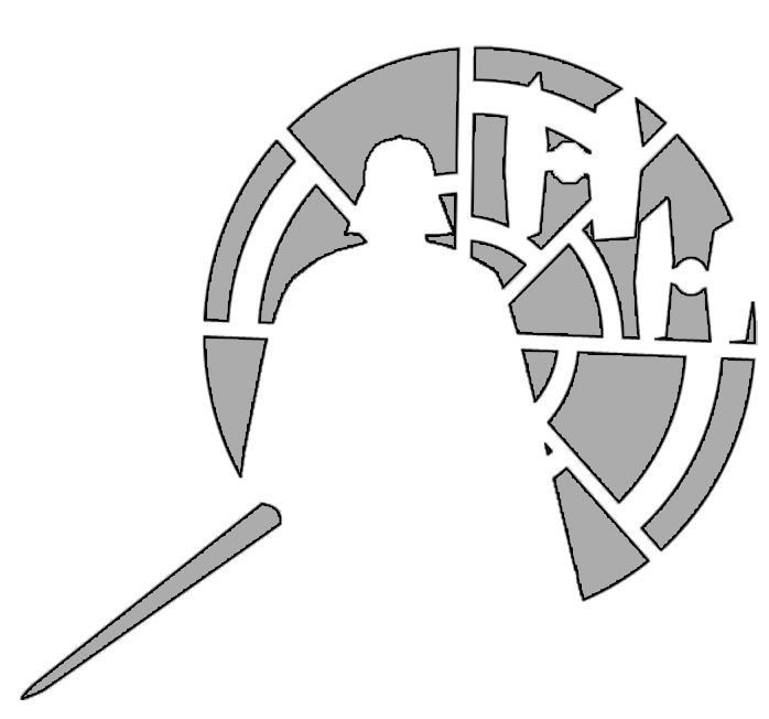 This is a photo of Star Wars Pumpkin Stencils Free Printable pertaining to rebel alliance