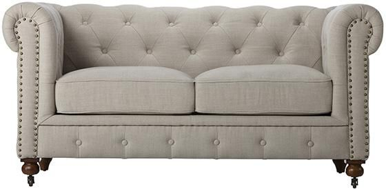 Gordon Tufted Loveseat - Sofas - Living Room - Furniture ...