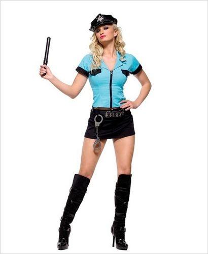 Sexy Leg Avenue Blue Black Police Officer Frisk Me Cop Costume