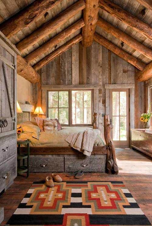 fifty extraordinary rustic log home bedroom designs pinterest