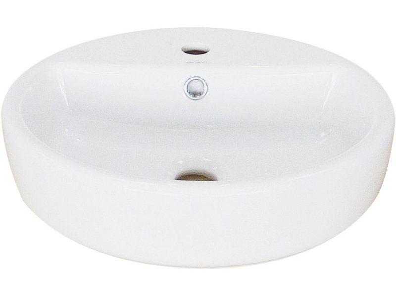 Aquasu Elo Aufsatz Waschbecken 44 Cm Weiss Kaufen Bei Obi Waschbecken Aufsatzwaschbecken Sanitar Silikon