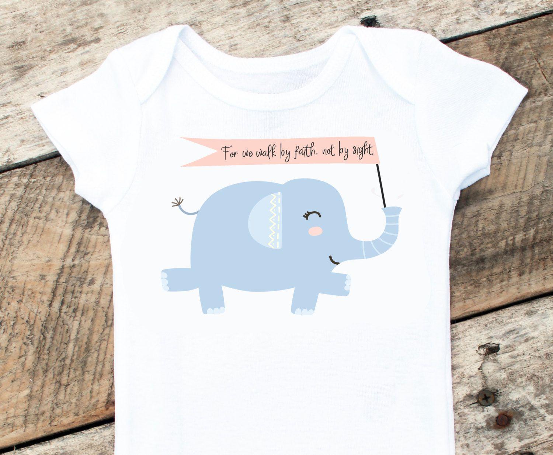 Baby Shower Girl Verses ~ Scripture baby onesies® elephant onesie baby girl faith clothing