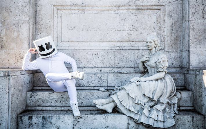 Marshmello, monument, DJ, progressive house | Marshmello in