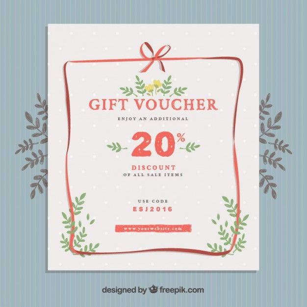 Gift voucher poster Free Vector ❆ coupon design ❆ Pinterest - design gift vouchers free
