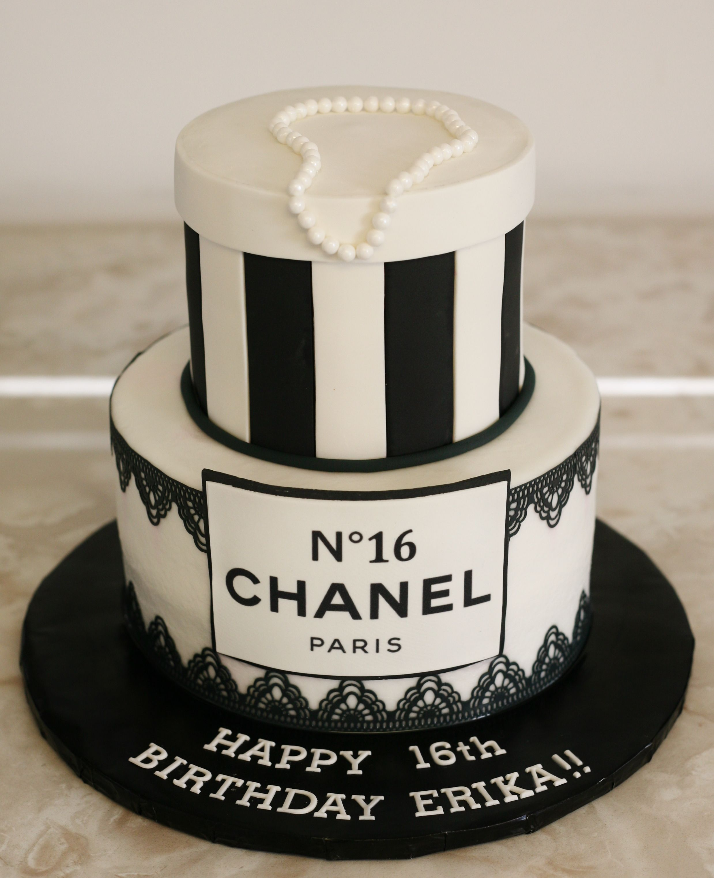 Chanel Birthday Cake Www Kittiskakes Com With Images Chanel