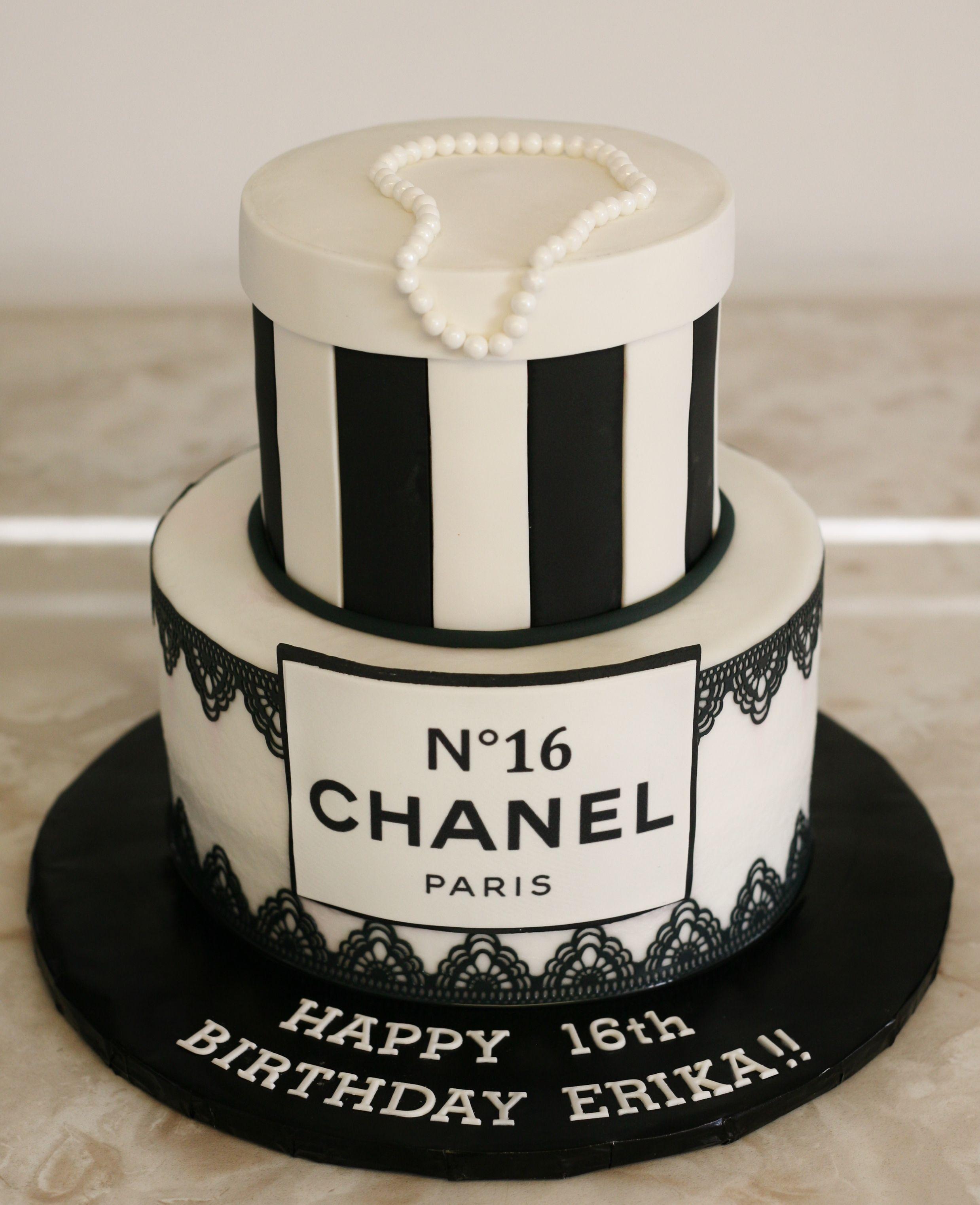 Chanel Cake Designs: Chanel Birthday Cake Www.kittiskakes.com