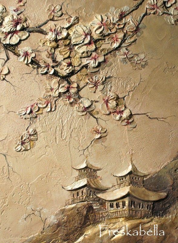 Ветка сакуры | БАРЕЛЬЕФ2 | Pinterest | Walls, Drywall and Plaster art