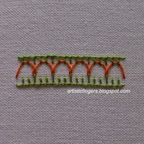 I'd like to share a new stitch with y'all and it will be a lovely addition to my 'not so popular' stitch tutorial series. If you are loo...