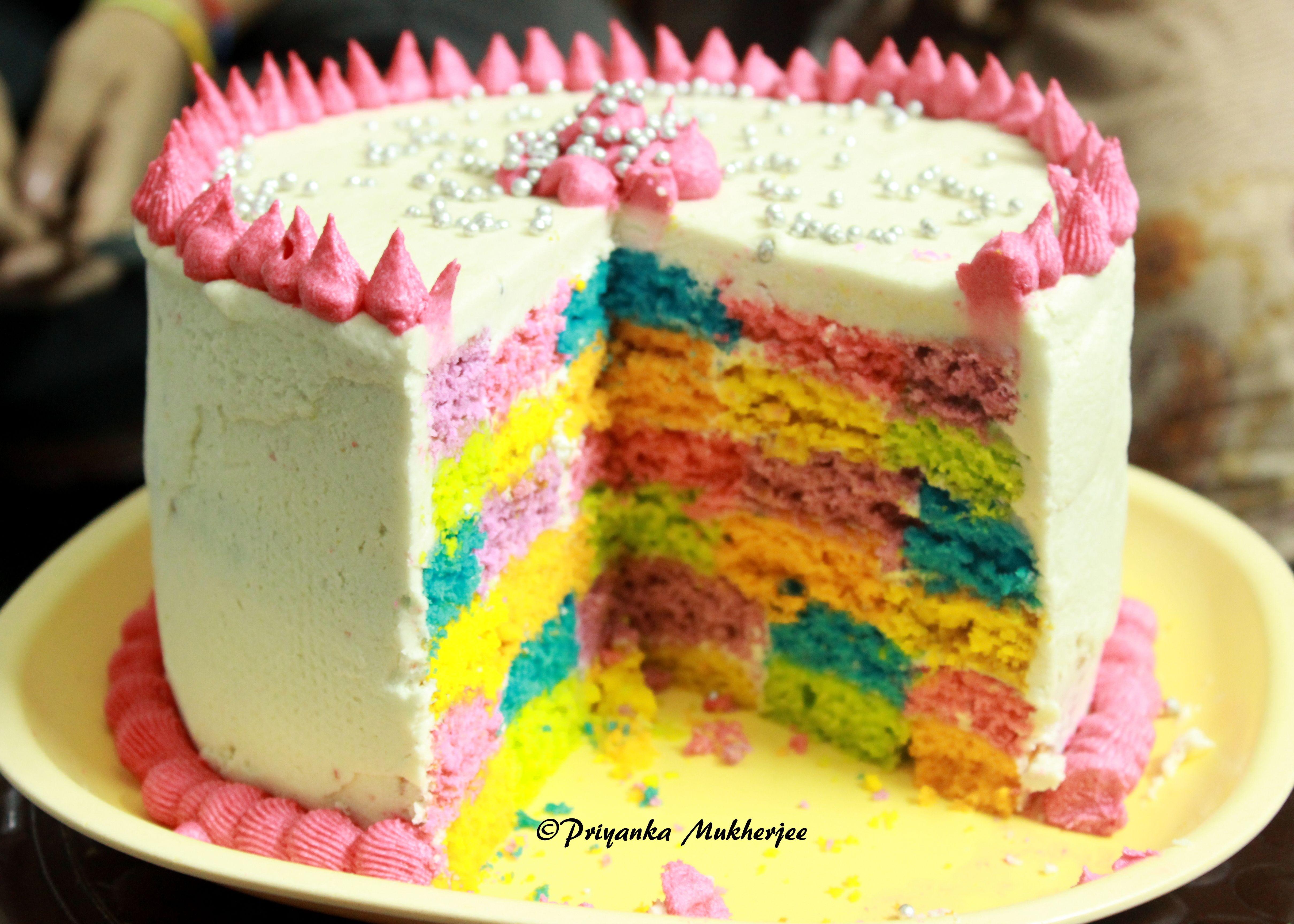 Rainbow Cake Made By Aditi Bhaduri Kolkata Eating India