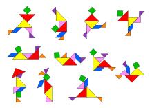 Tangram Puzzle Mit Menschen Losungen Legespiele Spiele Fur Kinder Vorlagen