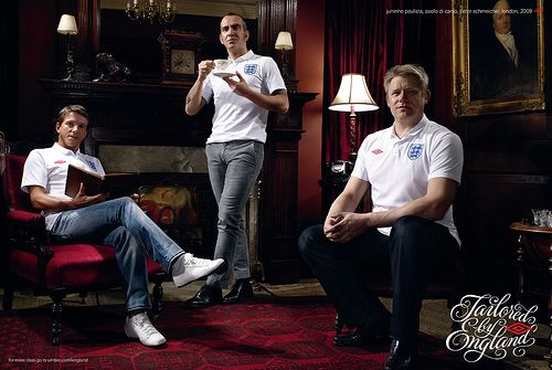 Juninhp Paulista, Paolo Di Canio, Peter Schmeichel. Tailored by England by umbrofootball, via Flickr