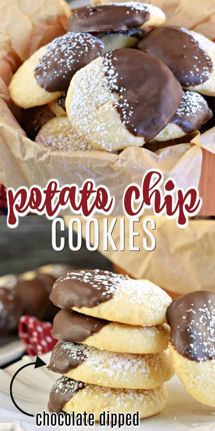 Chocolate Dipped Potato Chip Cookie