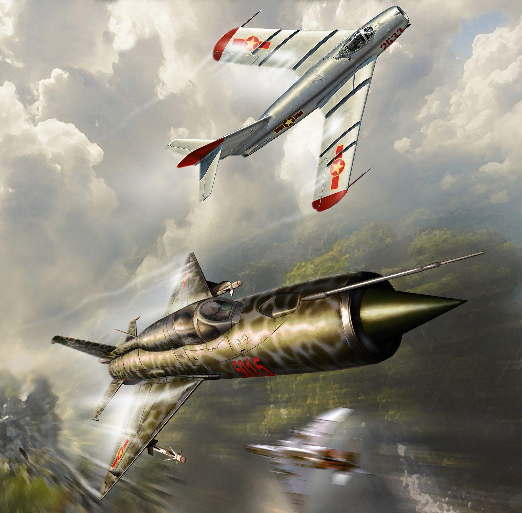 MiG-21 Fishbed & MiG-17 Fresco, Vietnam War (Peter Van