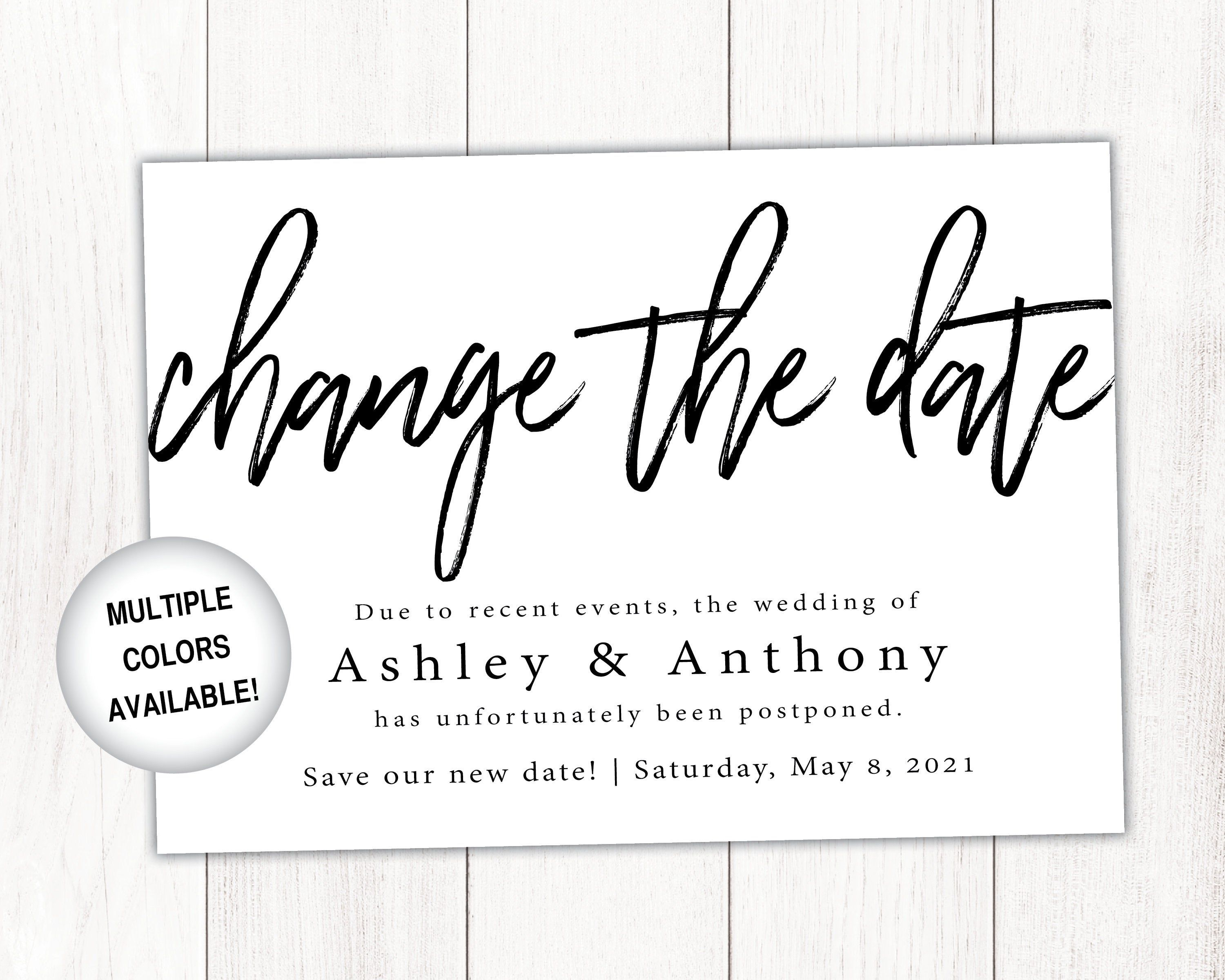 Change the date card black and white change the date