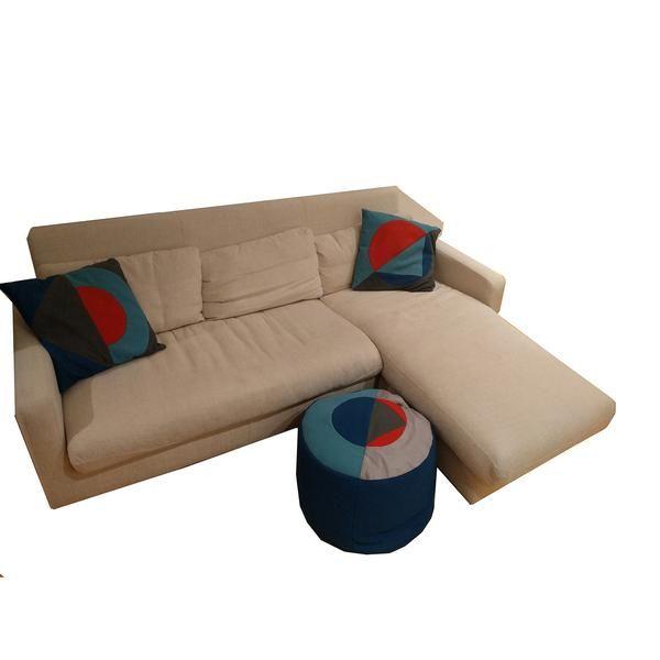 Habitat Beige Fabric Wooden Legs Corner Sofa £249 U003eu003e
