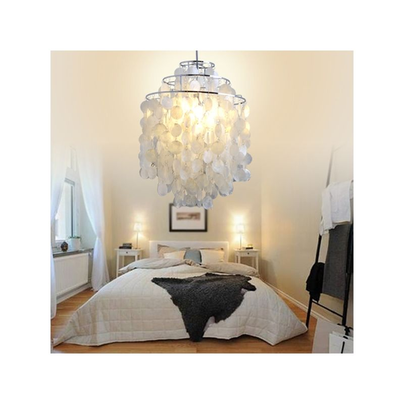 Modern Chandelier With 1 Light In White