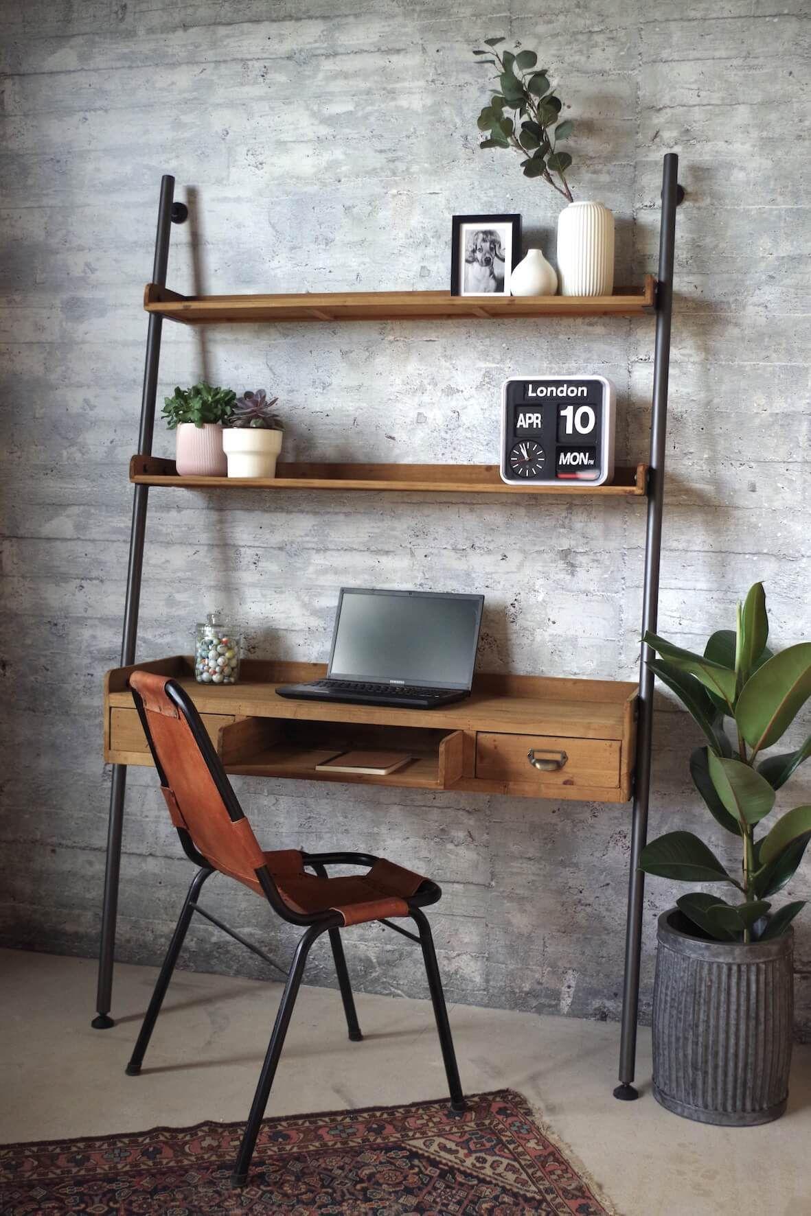 Rustic Ladder Desk Desk In Living Room Home Office Design Ladder Desk