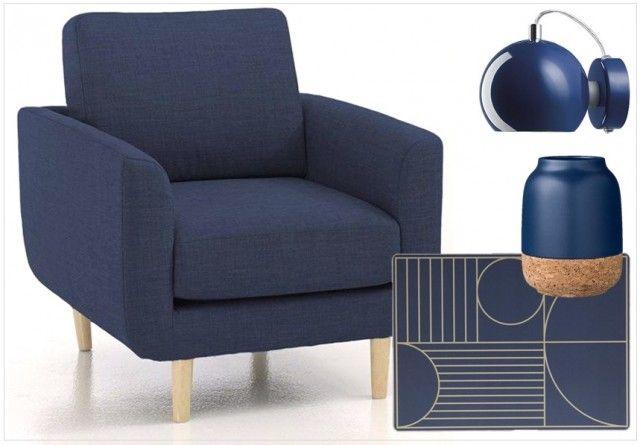 Une touche de bleu marine dans la déco | Salon bleu, Bleu marine ...