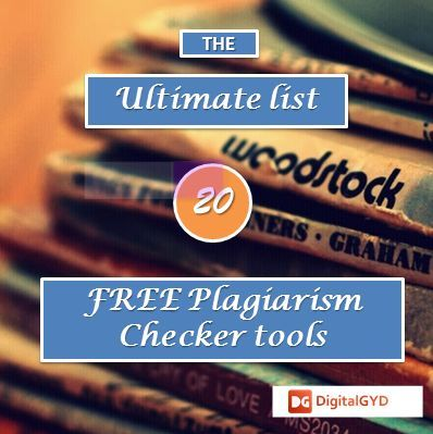 Top 20 Best Free Plagiarism Checker Tool Compared 2020 Online Writing Job Facebook Marketing Dissertation
