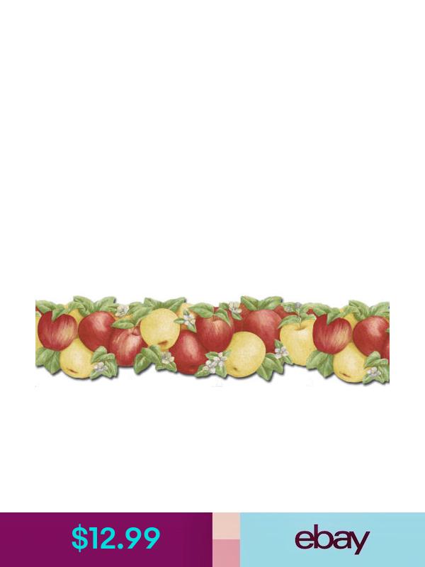 Kitchen Red Yellow Apples Wallpaper Border Cj80027db Yellow Apple Apple Wallpaper Wallpaper Border