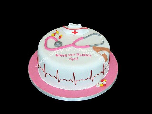 Nurse cake sjukepleiar kake Pinterest Nurse cakes and Cake
