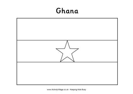 Ghana Flag Colouring Page With Images Ghana Flag Flag
