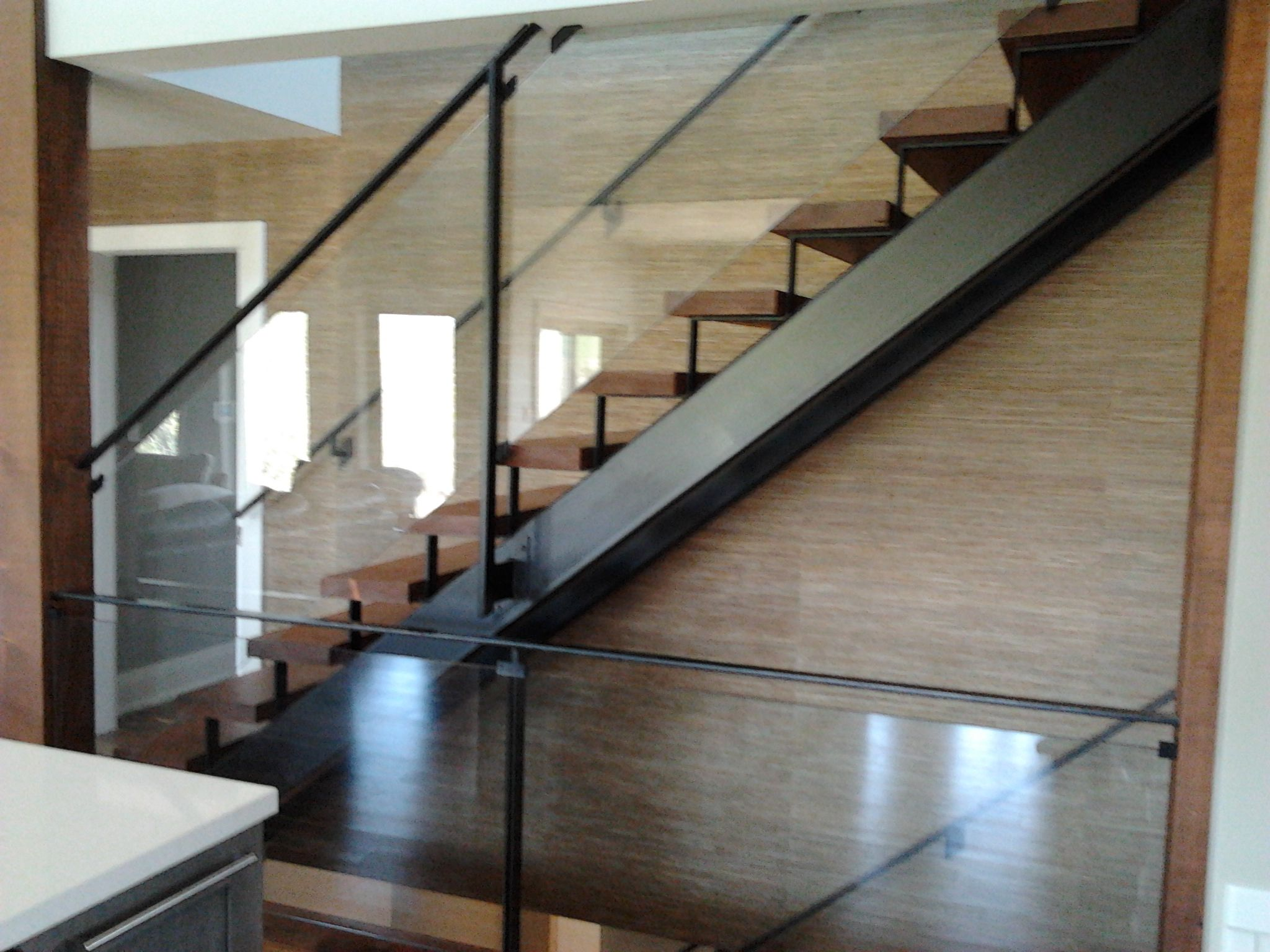 Best Modern Stair With Open Riser Glass Railing Stairs And 400 x 300