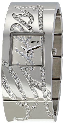 GUESS Women's W12063L1 Jewelry Silver Dial Watch GUESS. $119.97. Quartz movement. Durable mineral crystal protects watch from scratches,. Case diameter: 26 mm. Stainless steel watch. Water-resistant to 30 M (99 feet). Save 40% Off!