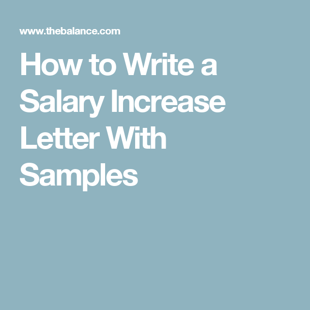 here are tips on how to write a salary increase letter with samples