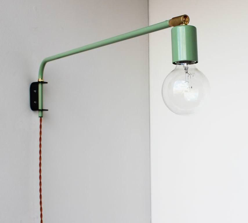 Wall Mounted Swing Arm Lamp Best Armwall Simple