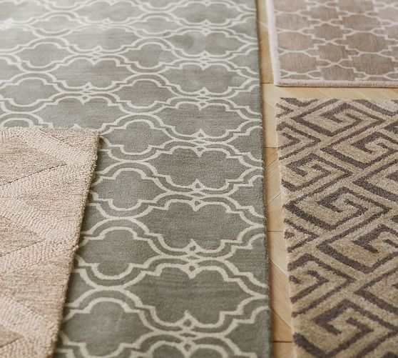 grayson tufted rug - taupe | pottery barn | rugs | pinterest