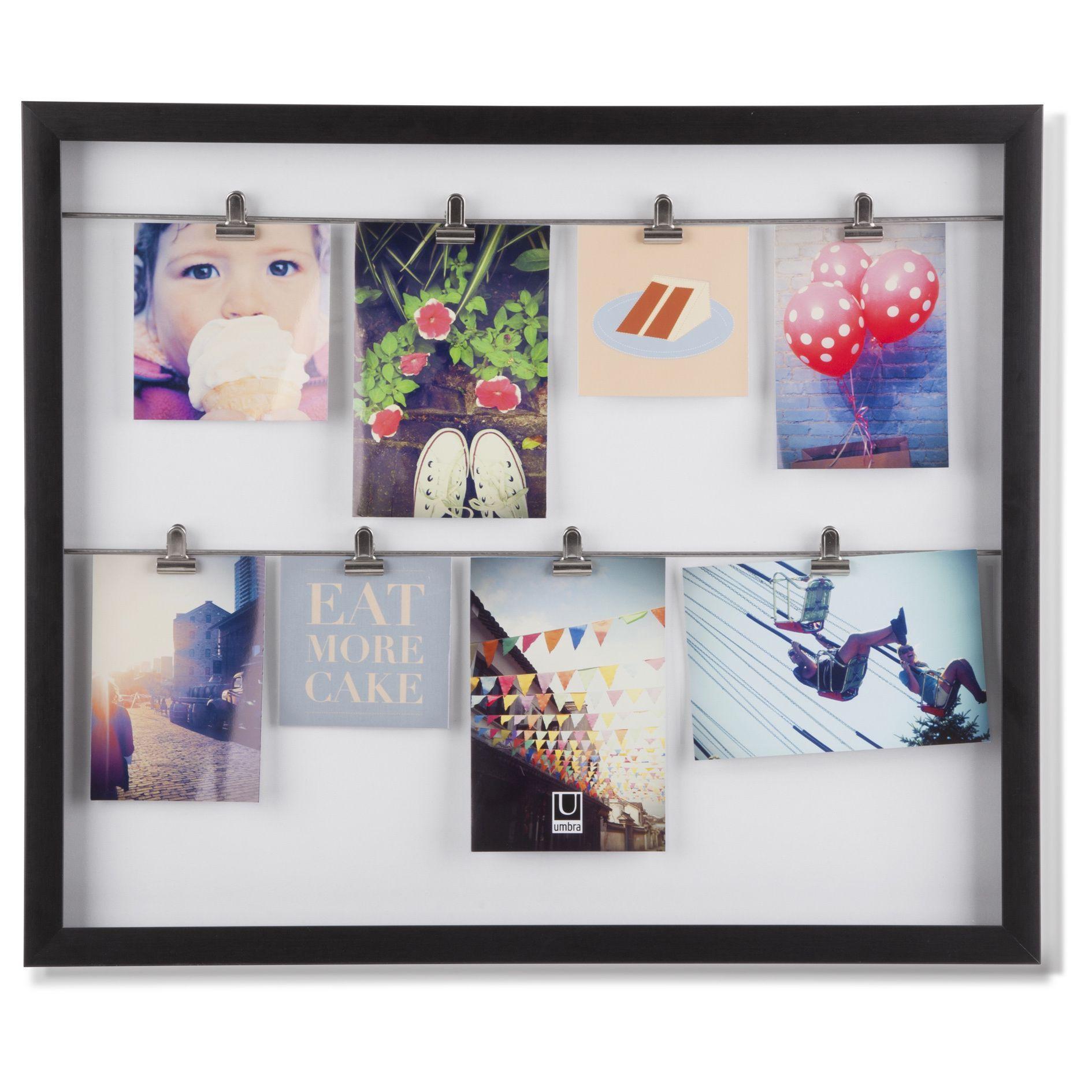 Umbra Clipline Photo Display Picture Frame White 4x6