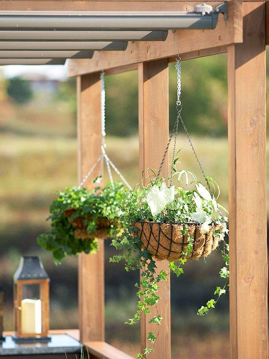 14 Ways To Improve Your Deck Hanging Plants Backyard Inspiration Garden Inspiration