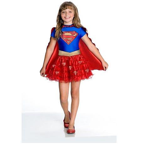girls superhero dress up costume supergirl - Halloween Girl Dress Up