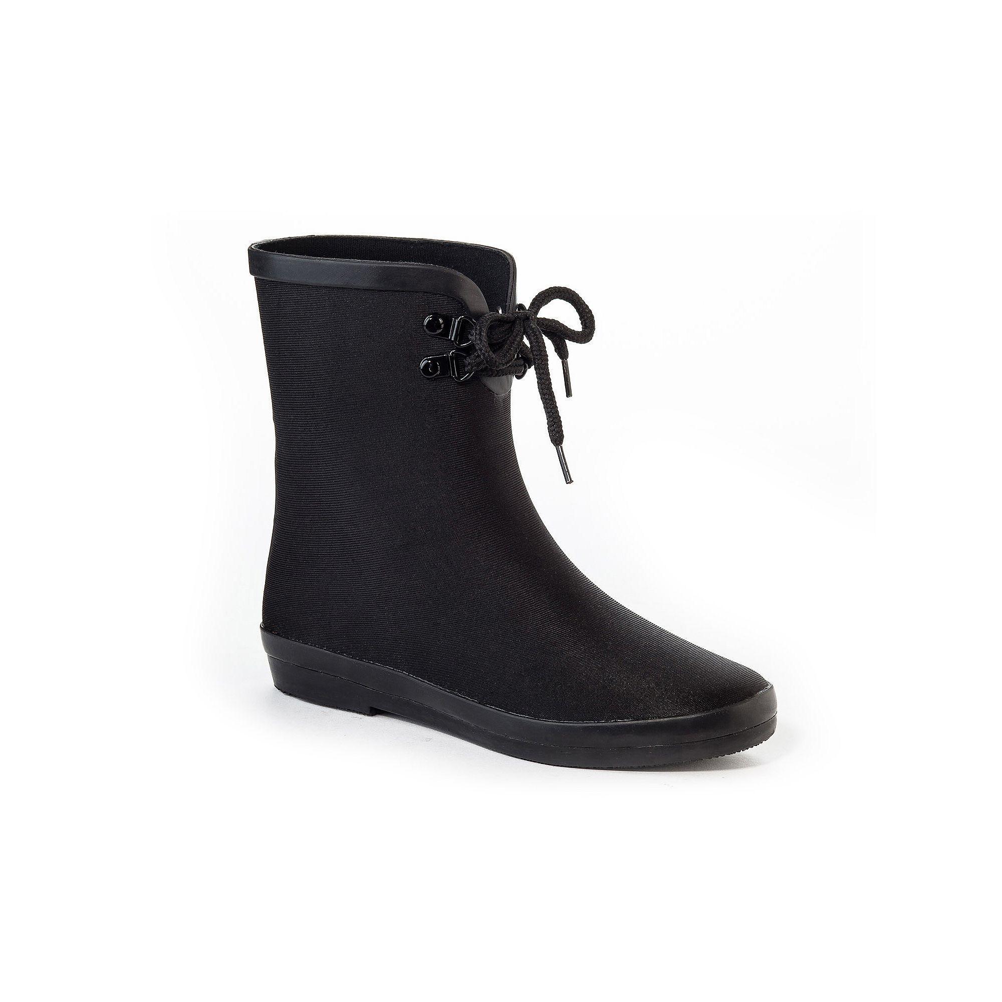 Henry Ferrera Blooming Women's Water-Resistant Ankle Rain Boots, Size: 10,  Black