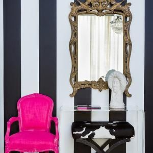 Hot Pink Accent Chair Eclectic