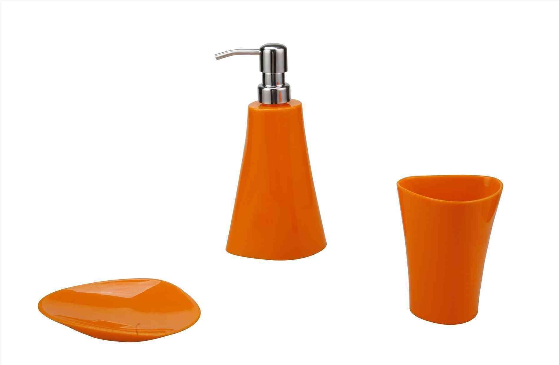 New Post Orange Bathroom Accessories Set
