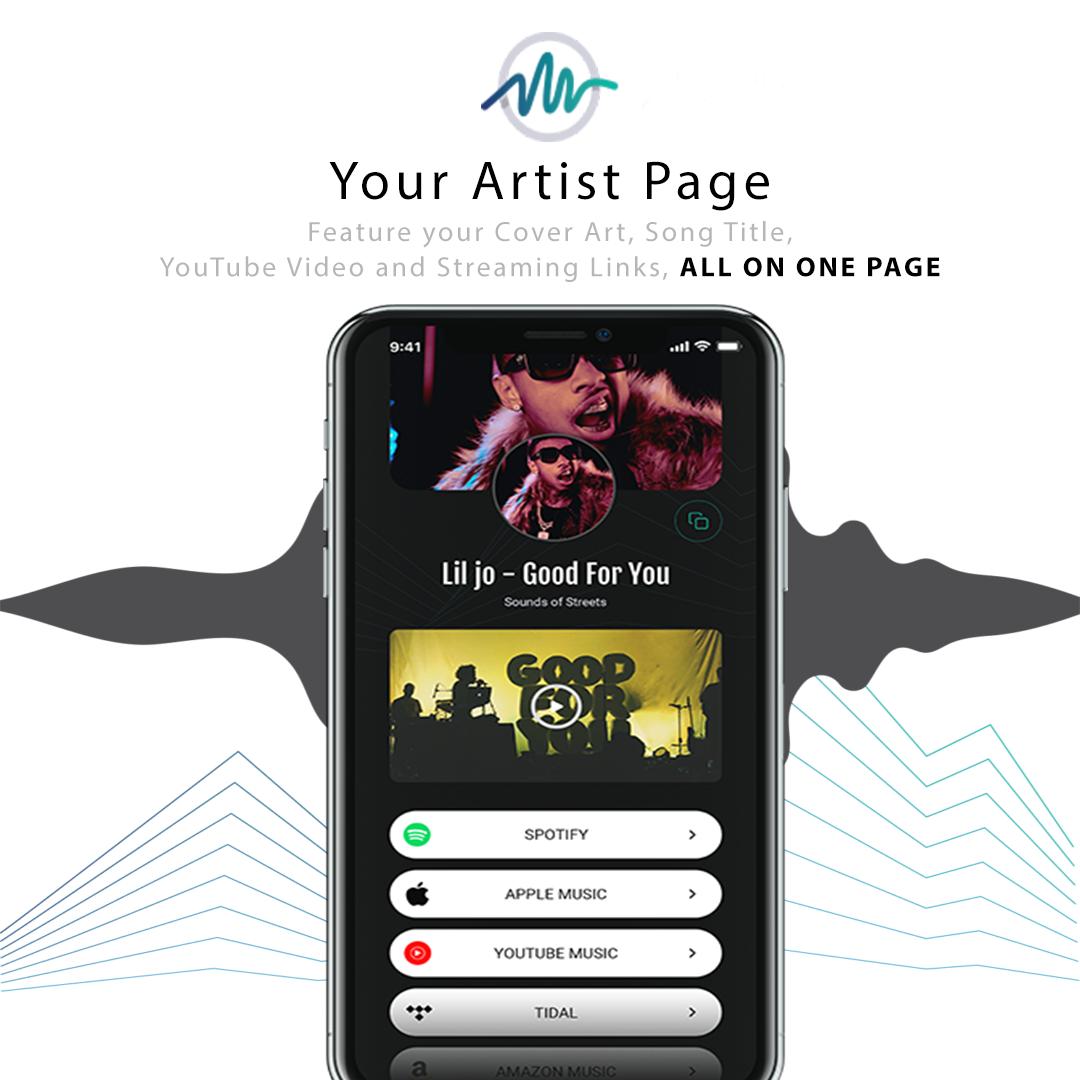 Smart Artist Website Create Music Smart Links Artist Websites Create Website Music