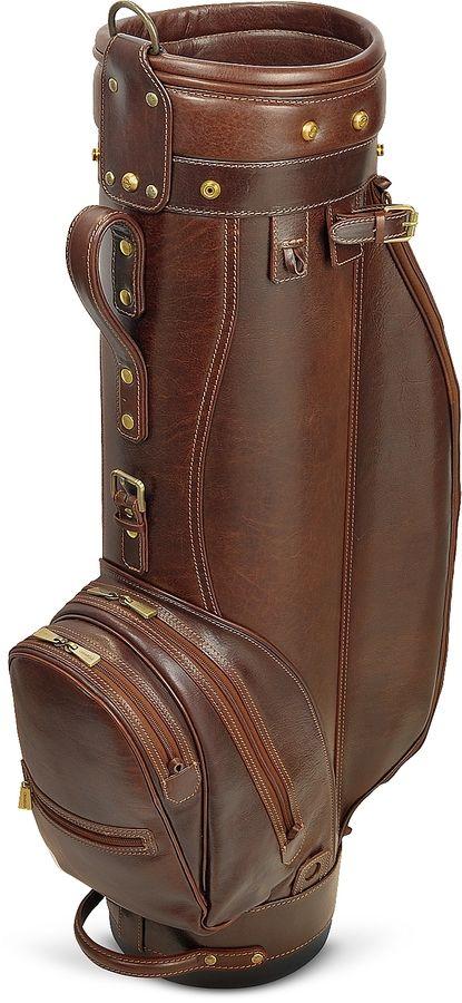 Chiarugi Prestige 8 Genuine Italian Leather Golf Bag With Friends Cart Accessories
