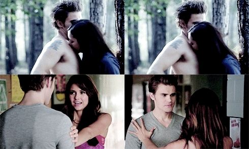 Elena is uncomfortable around Stefan's chest  It stirs