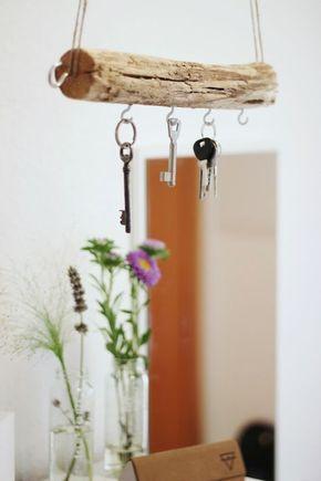 DIY: Schlüsselbrett aus Treibholz selber machen #ideenzumselbermachenfürzuhause