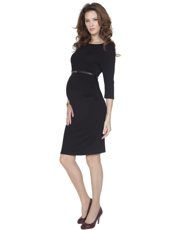 9692fe9f016 Seraphine Black Maternity Dress Ideal For Work