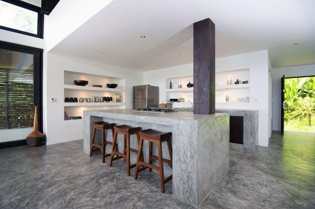 Design Kitchen Island amazing modern tropical villa in thailand - architectures design
