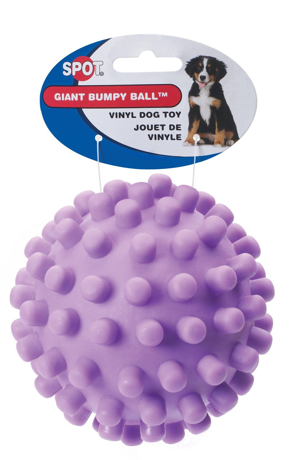 Ethical 5inch Vinyl Giant Squeaky Ball Dog Toy Colors May Vary
