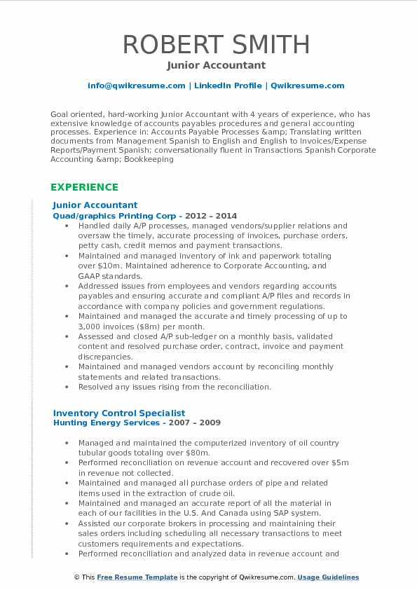 Accountant Resume Format 2019 2020 In 2020 Marketing Resume